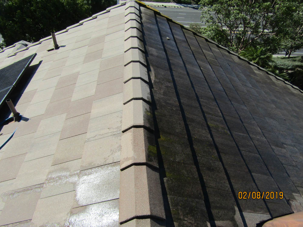 Roof Cleaning Slate Roof Tile Before & After